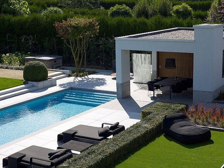 1000 idee n over zwembad fotografie op pinterest zomerse foto 39 s zomerse fotografie en strand - Tuin exterieur ontwerp ...