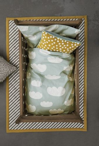 Clouds (Mint) Bedding