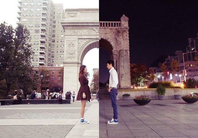 Viver um relacionamento à distância pode ser bastante complicado e muitos casais acabam fugindo dessa possibilidade. Mas a ideia também pode ser muito divertida, mesmo que comumente esqueçamos esse lado. Esta série de fotografias criadas pelo casal coreanoDanbi Shin eSeok Limostra que é possível se unir através da arte e adicionar um pouco de humor aos milhares de quilômetros de distância que existem entre eles. Ela vive em Nova Iorque, enquanto ele tem como lar a cidade de Seul, na…
