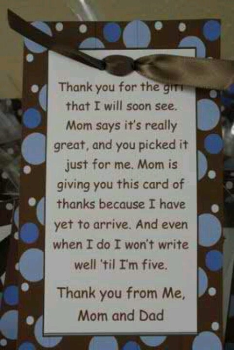 writing thank you notes for baby shower It is a great idea of parents to send small thank you note for baby shower gift to every guest  writing thank you cards for baby shower gifts.