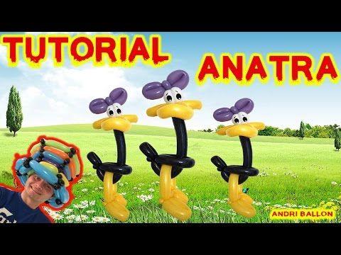PALLONCINI MODELLABILI tutorial 21  ANATRA / PAPERA - YouTube
