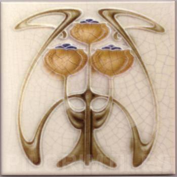 Art Nouveau stylized Ceramic Tiles  ref An101