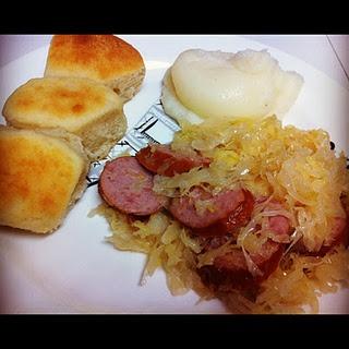 ... breakfast skillet potato skillet polish sausage kraut skillet