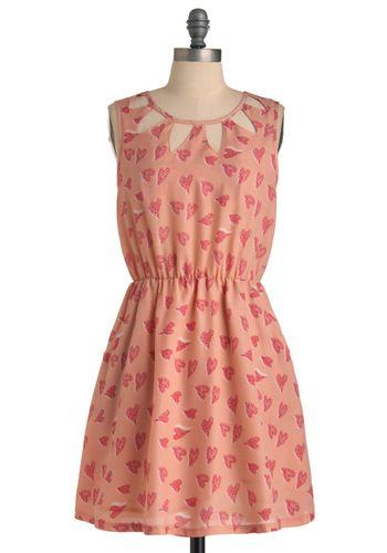 Hearts and Crafts DressValentine'S Day, Darling Dresses, Cutout, Prints Dresses, Vintage Dresses, Crafts Dresses, The Dresses, Cut Outs, Heart Dresses