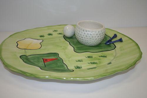 19th Hole Golf Chip & Dip Platter