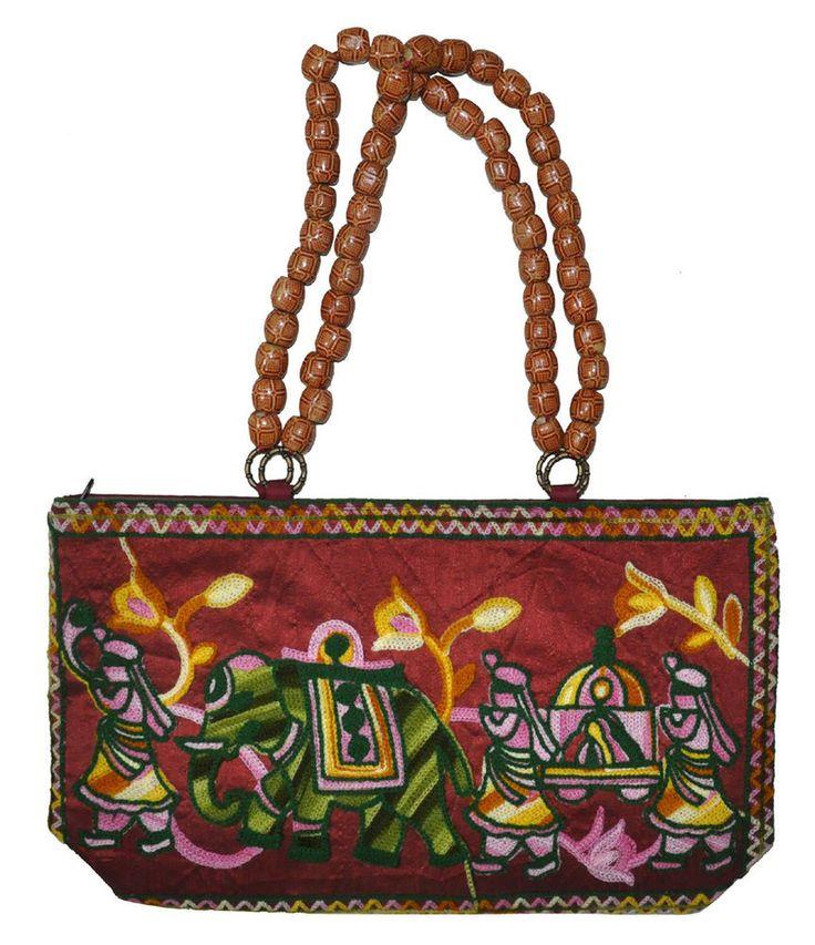 Indian Embroidered Hand Bags Women Fashion Designer Elephant Bag Christmas Gift #Lalhaveli #HandBag