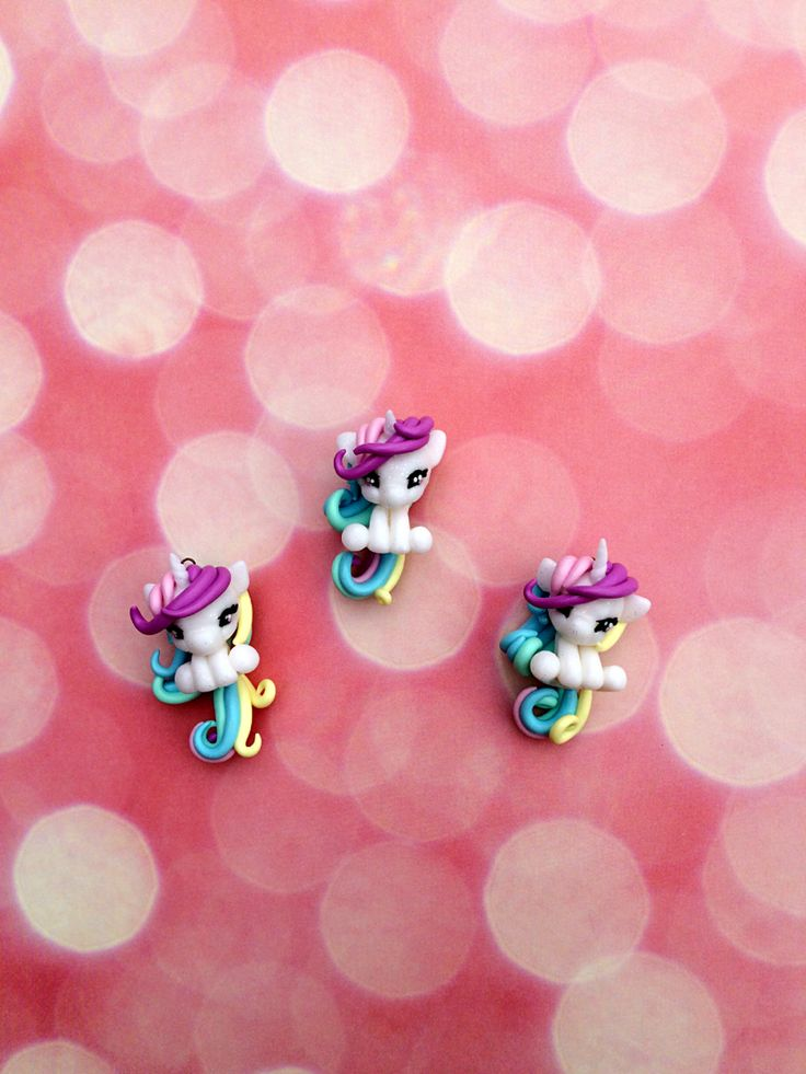 Unicorn charms #polymerclay #polymer #clay #fimo #kawaii #unicorn
