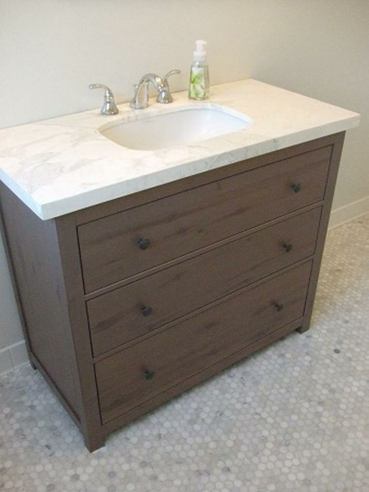 Hemnes from Ikea Used as bathroom furniture IKEA Hacks Pinterest Stains, Furniture and