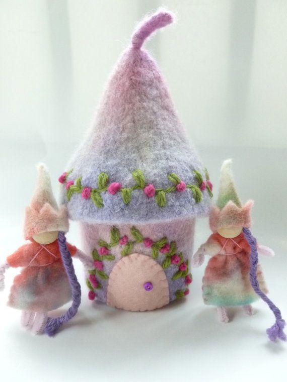 Beautiful! Fairy house Felted Wool Fairy dolls Waldorf by greenmountain,