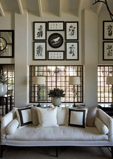 Symmetry: Kitchens Design, Living Rooms, John Jacobs, Black And White, Design Interiors, Interiors Design, Black White, Pictures Arrangements, Modern House