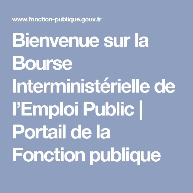 Bienvenue sur la Bourse Interministérielle de l'Emploi Public   Portail de la Fonction publique
