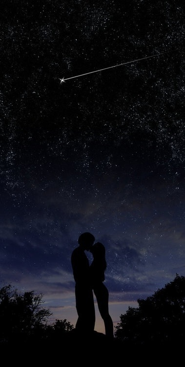 """""""Ask the night if you have ever seen Two beings becoming the same skin If you are my man, and your wife is, Wherever you are love with you I will be Far or near you want it or not There is no death in the world that manages to kill, a love story My Star only yours Your star only me """""""