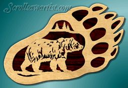 Free MSN Scroll Saw Patterns | Scroll Saw Patterns :: Wildlife :: Bear paw -