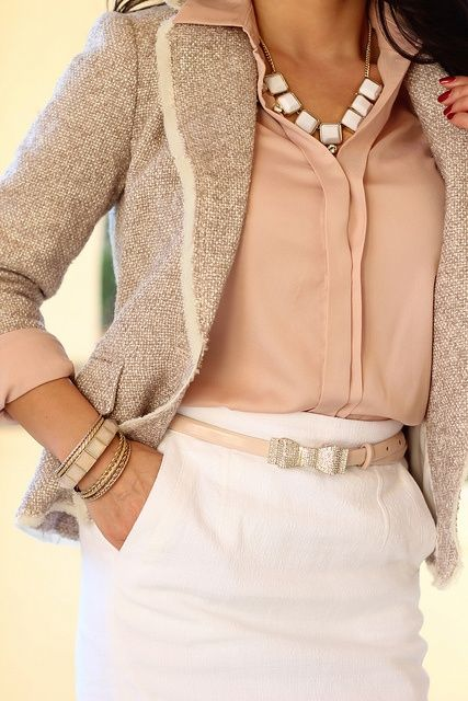 Blush and Tweed....