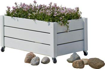Rustik blomsterkasse med hjul | Køb online på Bilka.dk