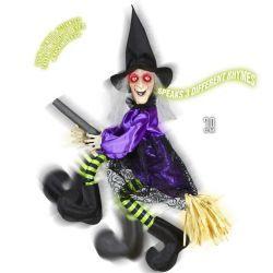 Bruja Voladora Parlante para Halloween