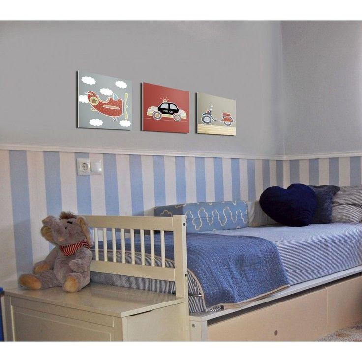 Cuadro infantil Moto Vespa para decoración de pared en habitación bebé