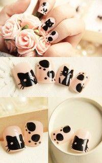 #nails #kitty #cats #mani