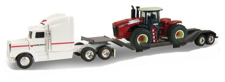 #16236 1/64 Versatile Dealer Semi with Lowboy & 500 4WD Tractor