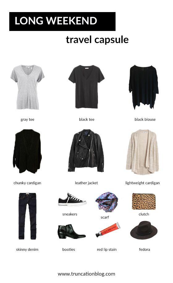 long weekend travel capsule wardrobe kl der. Black Bedroom Furniture Sets. Home Design Ideas