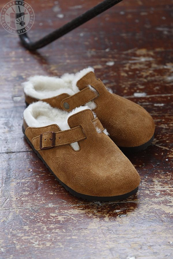 BIRKENSTOCK clogs to keep warm and cozy inside, and outside
