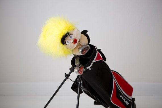 Golf club head cover Girl GOLF babe golf by Puppetsinabag