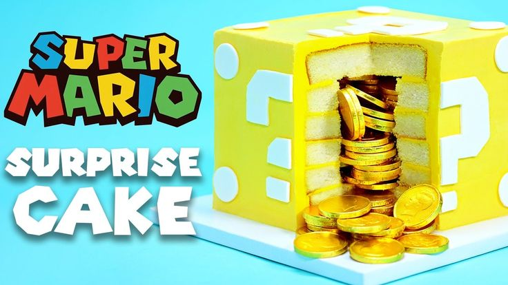 How to Make a Mario Question Block Surprise Cake Filled With Edible Gold Coins