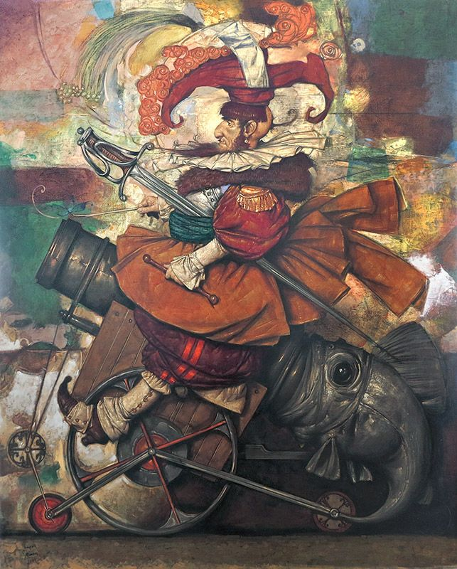 The Bomber Oil on Canvas 100x81cm