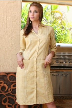 Ladies Guayabera Dress (LDC1767-P2) - Guayaberas