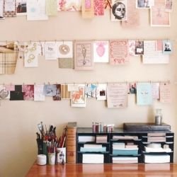 filling walls with fave imagesIdeas, Clothing Line, Inspiration Wall, Cards Display, Crafts Room, Inspiration Boards, Workspaces, Desks, Home Offices