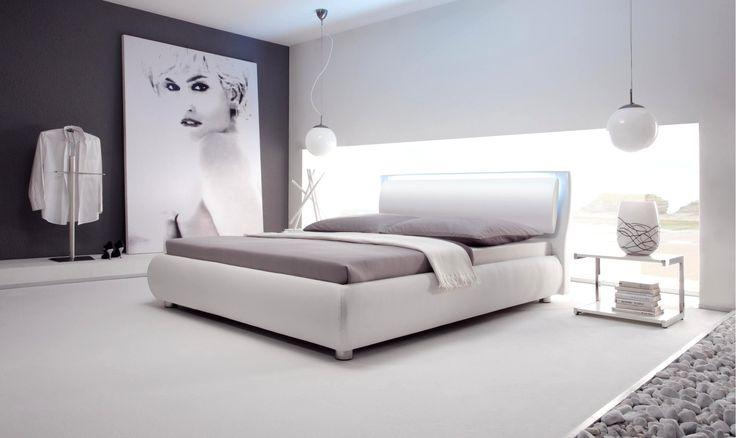 die besten 25 polsterbett wei ideen auf pinterest schne schlafzimmer modern schwarz weis - Schlafzimmer Modern Schwarz Wei