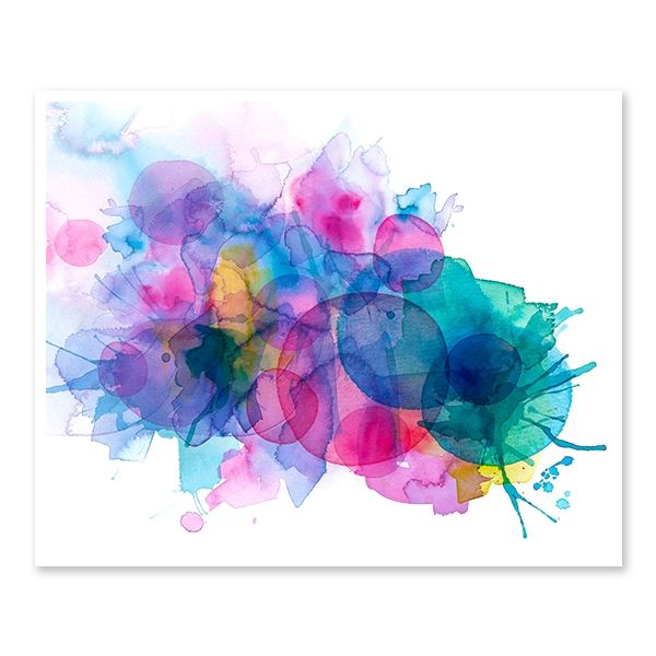 Motion abstract watercolour print by Lamai Anne. Like a whole lot of wine glasses got together and had a fabulous party (coasters not invited!).