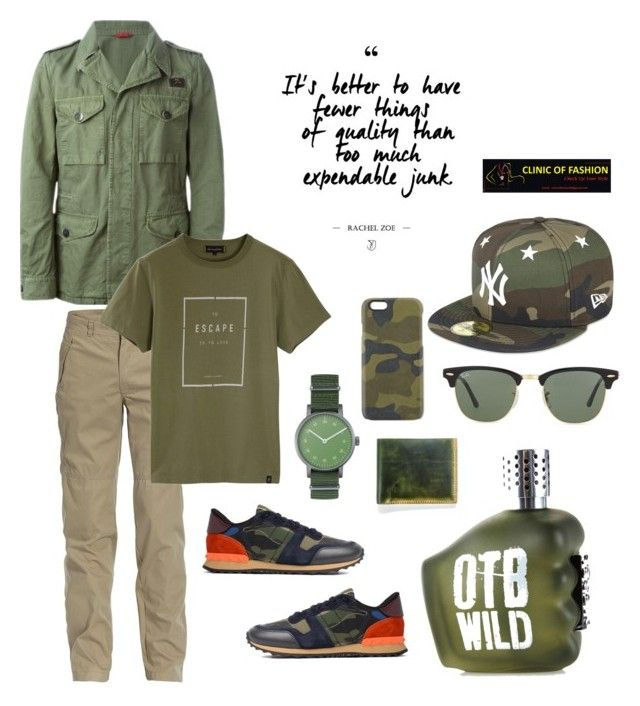 """Untitled #12"" by clinicoffashion on Polyvore featuring FAY, Jeep, Roamers & Seekers, Valentino, Void, J.Fold, Master-Piece, Ray-Ban, New Era and Diesel"