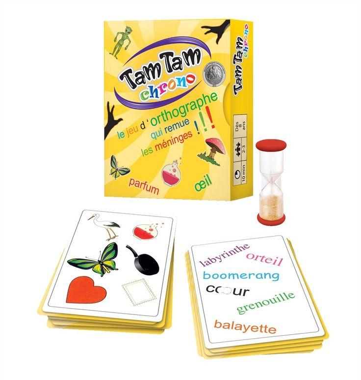 Les joueurs doivent retrouver l'unique paire image-mot qui existe entre une carte-images et une carte-mots. Grâce aux cartes mots les enfants améliorent de façon ludique l'orthographe et la lecture. Contient 62 cartes (dim. 10 x 7 cm) dont 31 cartes-mots et 31 cartes-images, 1 sablier et un livret avec le lexique et des idées de jeux. Dès 8 ans.