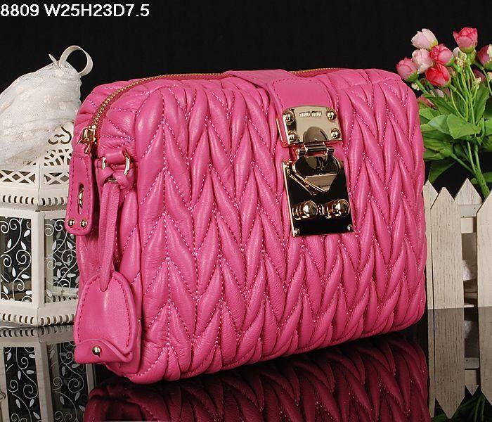Miu Miu Newest Matelasse Cherry Pink Clutch Bag 1 #bags