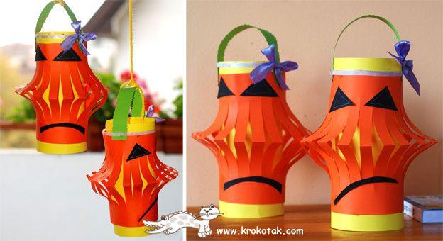 хартиени фенери за Хелоуин