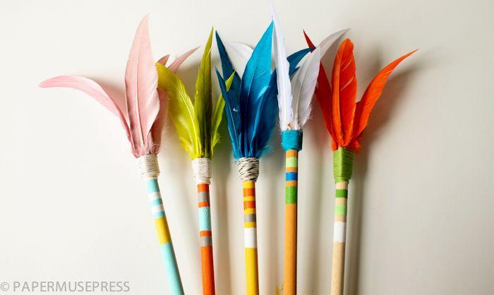 Flechas indias para fiestas temáticas o disfraces caseros - Manualidades fáciles - Manualidades para niños - Charhadas.com