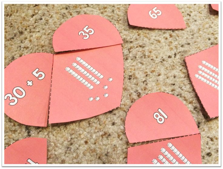 Heartbreakers! Students work together to put the hearts back together. Helps practice place value and expanded form of 2-digit numbers!