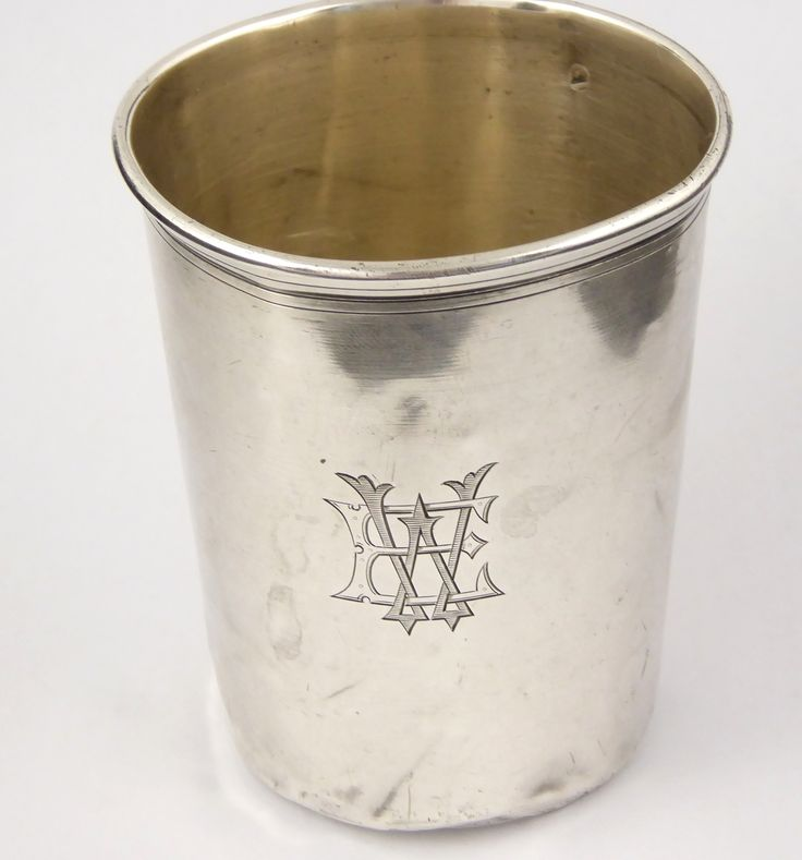 Antique 1800s French Silver Wine Cup EW - The Collectors Bag
