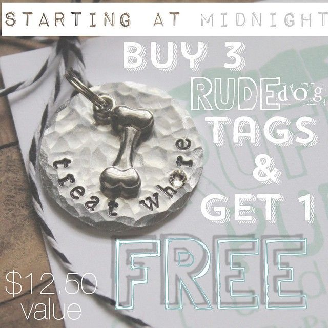 72 best rudedog dog tags images on pinterest hand stamped dog share them with someone you kind of like or be greedy and keep all 4 for yourself over 50 tags to choose from ends sunday coupon code fandeluxe Images
