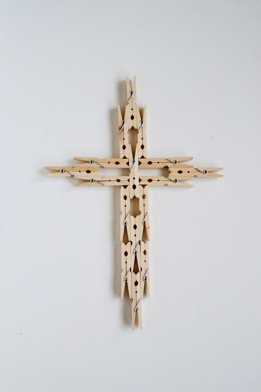 How to Make a Clothespin Cross