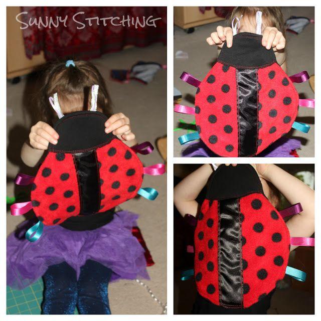 Sunny Stitching: Ladybug Taggie Blanket Tutorial