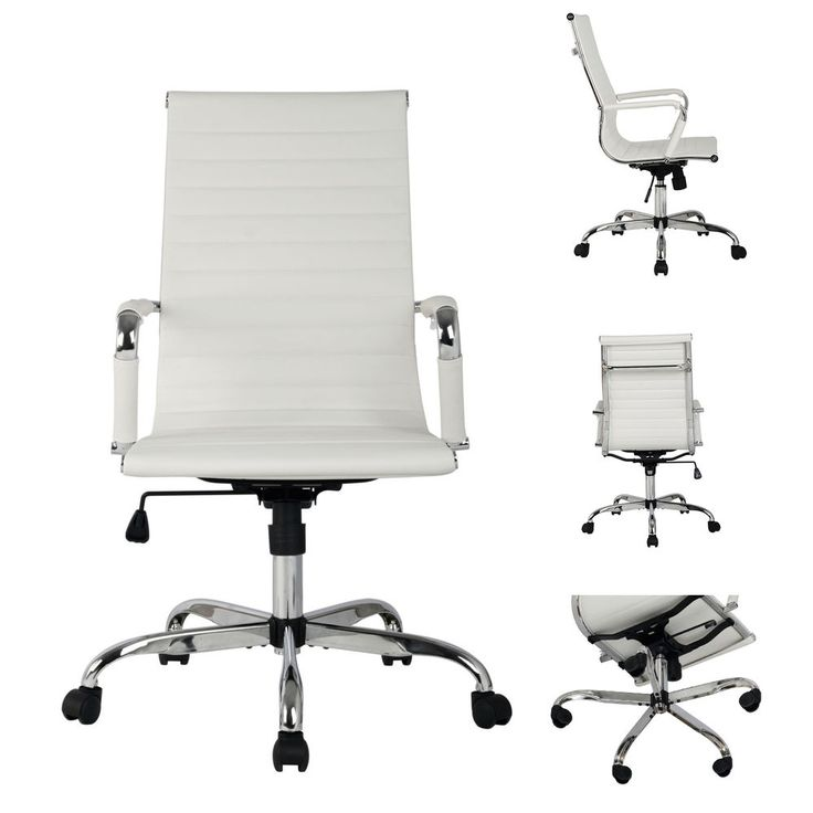 PU Leather Ergonomic Office Chair High Back Executive Computer Desk Seat White | Business & Industrial, Office, Office Furniture | eBay!