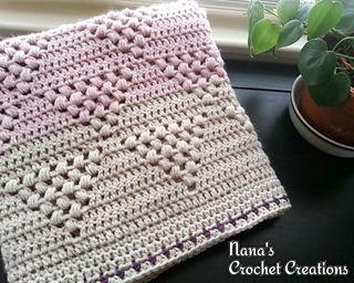 Free crochet pattern! :) http://www.ravelry.com/patterns/library/nanas-triangle-bobble-blanket