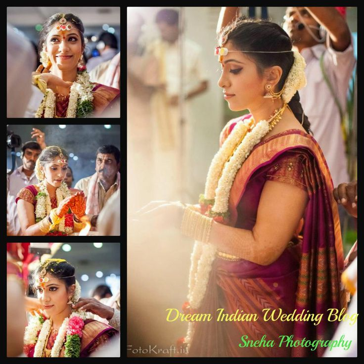 south indian bride @ muhurtham makeover by magixspa
