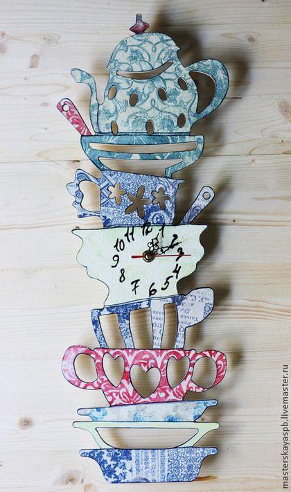 Кухня ручной работы. Ярмарка Мастеров - ручная работа. Купить Комплект часы и вешалки для полотенец. Handmade. Комплект, полотенце