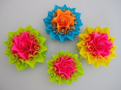 Diy Schne Origami Blume Beautiful Origami Flower Youtube