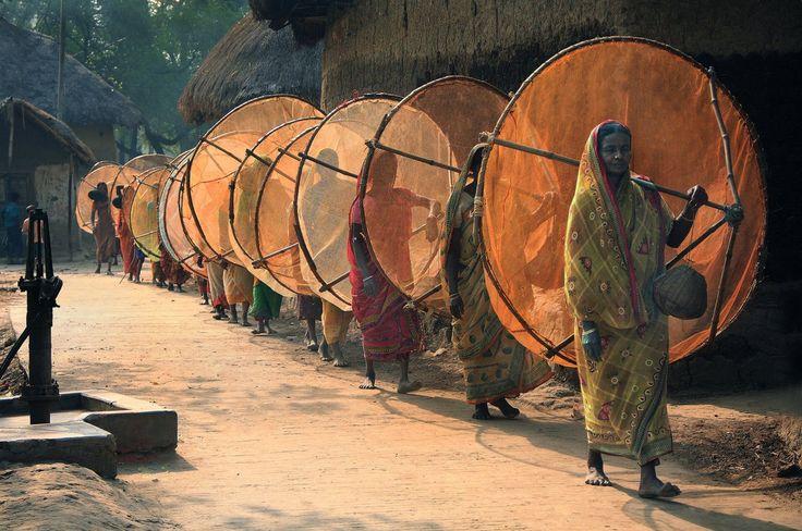 Women going fishing, India ~ETS #india #culture #anthropology
