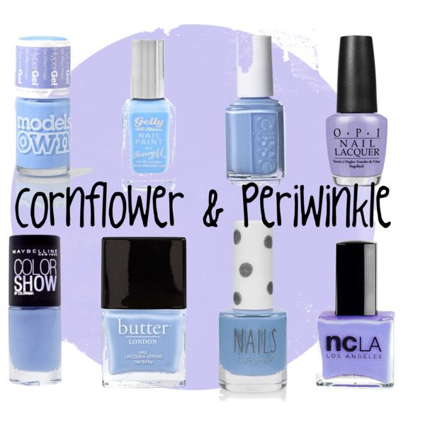 """New on the Blog, """"Cornflower/Periwinkle Nail Trend and Comparison"""" by pinkparadisebeauty on Polyvore http://pinkparadisebeauty.blogspot.co.uk/2014/05/trend-cornflowerperiwinkle-nail-polish.html #bbloggers"""