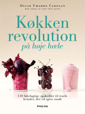 Køkkenrevolution på høje hæle af Oscar Umahro Cadogan, ISBN 9788791603303  (har Oscar mon høje hæle på, når han laver mad?)